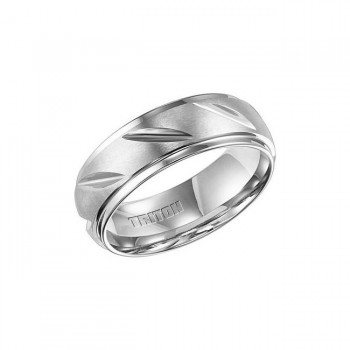 Triton White Tungsten Carbide Comfort Fit Domed Band 11-01-4421