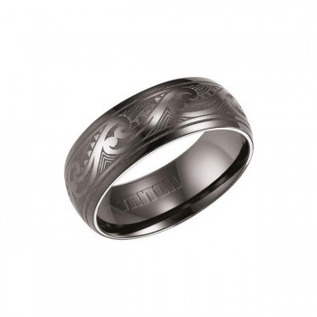 Triton White Tungsten Carbide Comfort Fit Domed Band 11-01-4443