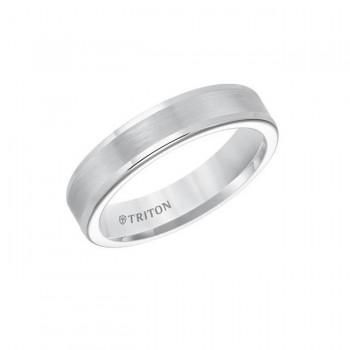 Triton Flat Tungsten Carbide Round Edge Comfort Fit Band 11-01-5573
