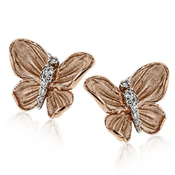 18k Gold White DE267-R Earring