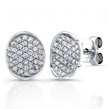 Uneek 18K White Gold Pave Diamond Earrings E215