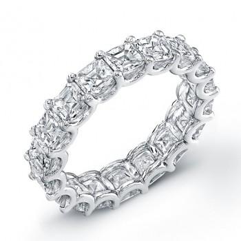 Uneek Platinum Asscher Cut Diamond Eternity Band-ETAS300