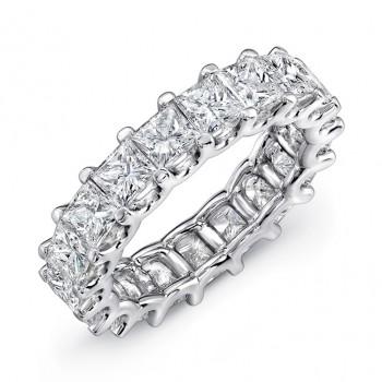 Uneek Platinum Princess Cut Diamond Eternity Band - ETPC200