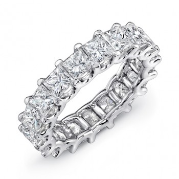 Uneek Platinum Princess Cut Diamond Eternity Band-ETPC500