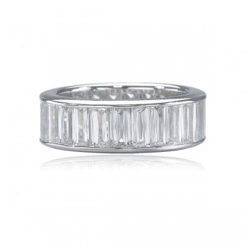 Christopher Designs Crisscut Emerald Cut Band