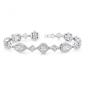 "The Uneek ""Everything"" Diamond Bracelet, in Platinum"