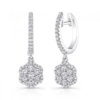 Petite Bouquet Collection 14K White Gold Diamond Earrings LVEJ05
