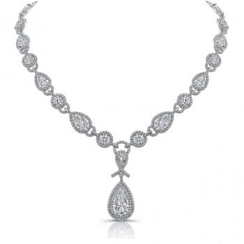 """The Uneek """"Signature"""" Diamond Necklace, in Platinum"""