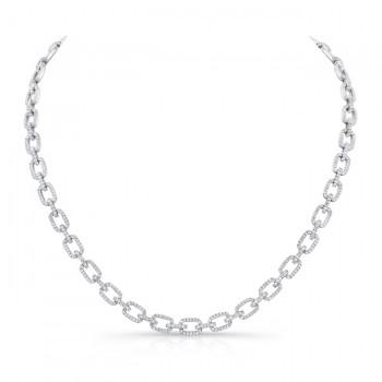 14K White Gold Diamond Necklace LVND08