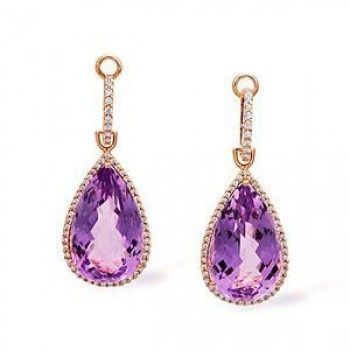 Exquisite Zeghani Amethyst and Diamond Earrings