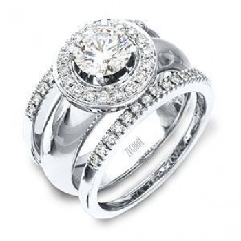 Stunning Diamond Wedding Band and Engagement Ring