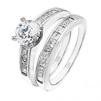 Zeghani 1 Carat Diamond Wedding Set