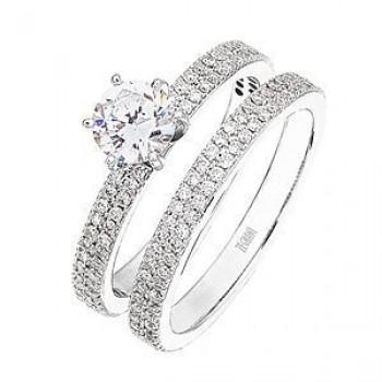 Dazzling Designer Diamond Wedding Set by Zeghani