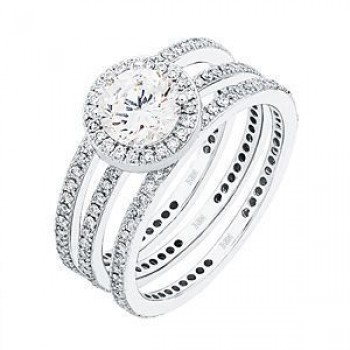 Exquisite Diamond Wedding Set by Zeghani