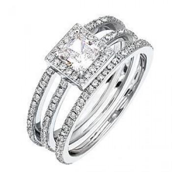 Elegant Diamond Wedding Set by Zeghani