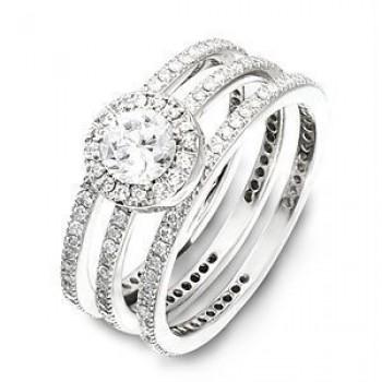 Gorgeous Zeghani Designer Diamond Wedding Set