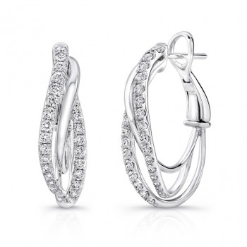 Uneek Hoop Diamond Earrings LVW441W